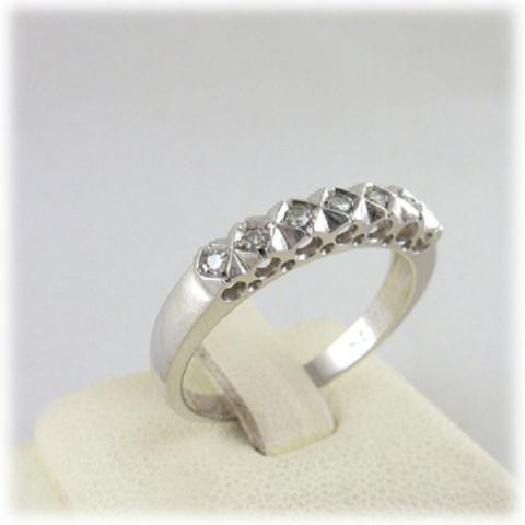 Anello Fascia Diamanti kt. 0,14
