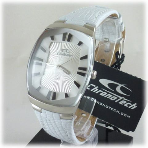 Orologio Chronotech donna bianco pelle