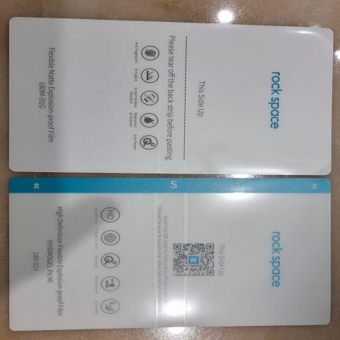 pellicole per smartphone trasparenti e opache hydrogel
